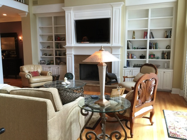 Family room built ins